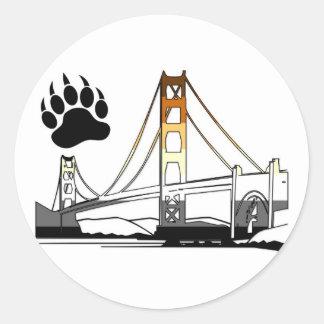 Golden Gate Bridge Bear Pride Classic Round Sticker