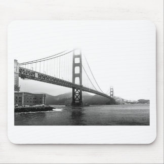Golden Gate Bridge Black And White Mouse Pad