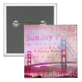 Golden Gate Bridge Button