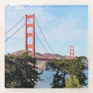 Golden Gate Bridge, California CA Glass Coaster