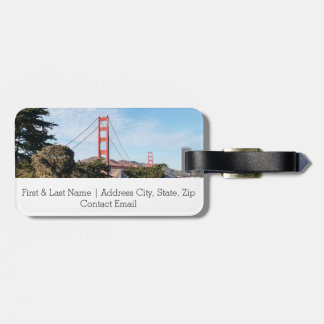 Golden Gate Bridge, California CA Luggage Tag