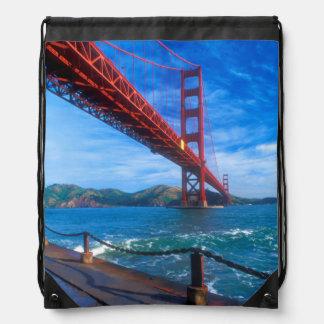 Golden Gate Bridge, California Drawstring Bag