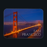 "Golden Gate Bridge, California Magnet<br><div class=""desc"">USA,  California,  San Francisco. Golden Gate Bridge lit at night. 