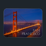 "Golden Gate Bridge, California Magnet<br><div class=""desc"">USA,  California,  San Francisco. Golden Gate Bridge lit at night. | Jaynes Gallery / DanitaDelimont.com</div>"
