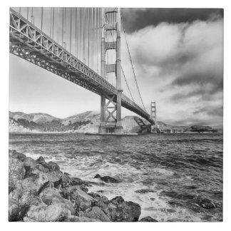 Golden Gate Bridge, California Large Square Tile