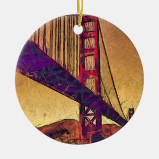 Golden gate bridge ceramic ornament