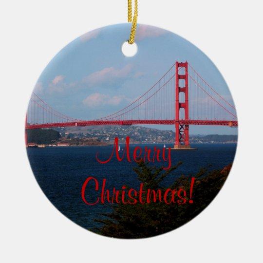 Golden Gate Bridge Christmas Ornament - Golden Gate Bridge Christmas Ornament Zazzle.com