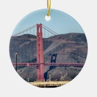 Golden Gate Bridge Closeup Ornaments