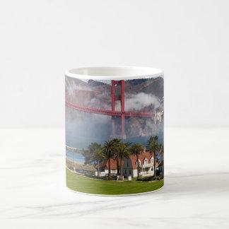 Golden Gate Bridge Coast Guard Station Classic White Coffee Mug