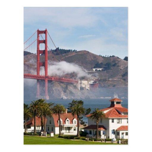 Golden Gate Bridge Coast Guard Station Post Card