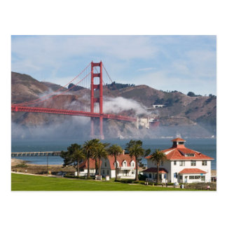Golden Gate Bridge Coast Guard Station Postcard