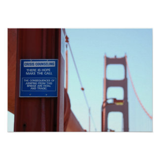 Golden Gate Bridge Crisis Counseling Poster