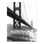 Golden Gate Bridge Dancers Postcard
