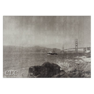 Golden Gate Bridge Decorative Glass Cutting Board