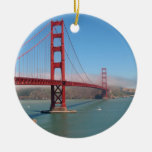 Golden Gate Bridge Double-Sided Ceramic Round Christmas Ornament
