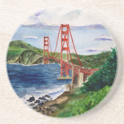 Golden Gate Bridge Drink Coaster Zazzle