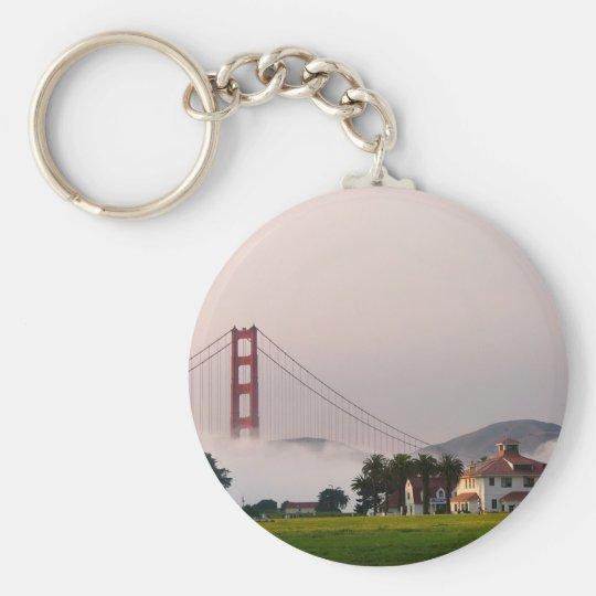 Golden Gate Bridge Fog Keychain