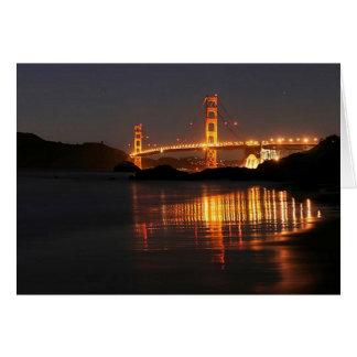 Golden Gate bridge from Barker Beach Greeting Card