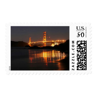 Golden Gate bridge from Barker Beach Postage
