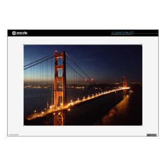 "Golden Gate Bridge from Marin headlands 15"" Laptop Decal"