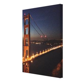 Golden Gate Bridge from Marin headlands Canvas Print