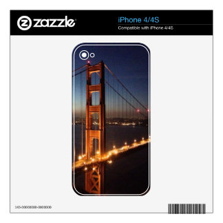 Golden Gate Bridge from Marin headlands Decals For The iPhone 4S