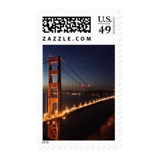 Golden Gate Bridge from Marin headlands Postage Stamps