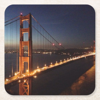 Golden Gate Bridge from Marin headlands Square Paper Coaster