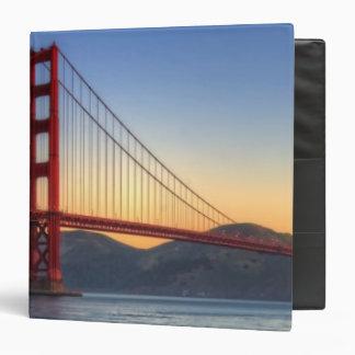 Golden Gate Bridge from San Francisco bay trail. 3 Ring Binder