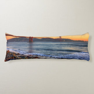 Golden Gate Bridge from San Francisco bay trail. Body Pillow
