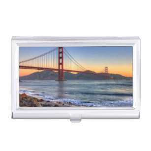 Francisco golden gate business card holders cases zazzle golden gate bridge from san francisco bay trail business card holder reheart Gallery