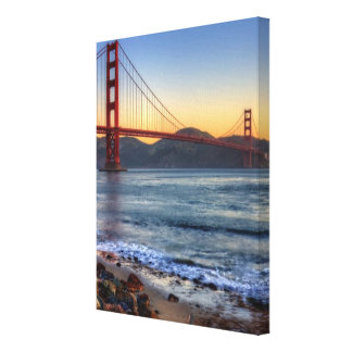 Golden Gate Bridge from San Francisco bay trail. Stretched Canvas Prints