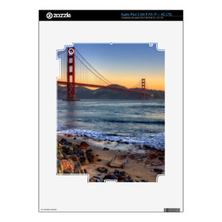 Golden Gate Bridge from San Francisco bay trail. Decal For iPad 3
