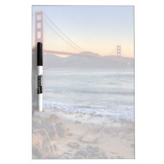 Golden Gate Bridge from San Francisco bay trail. Dry Erase White Board