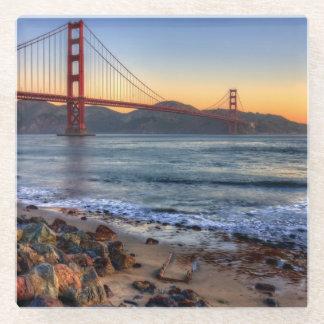 Golden Gate Bridge from San Francisco bay trail. Glass Coaster