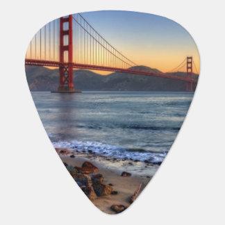 Golden Gate Bridge from San Francisco bay trail. Guitar Pick