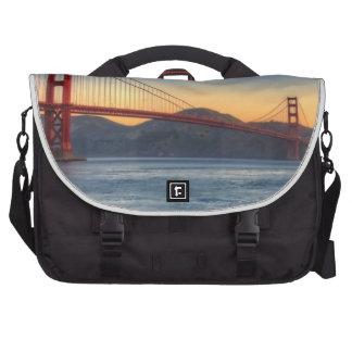 Golden Gate Bridge from San Francisco bay trail. Computer Bag