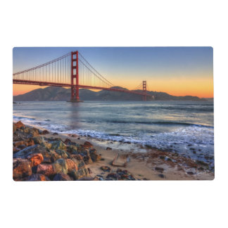 Golden Gate Bridge from San Francisco bay trail. Laminated Place Mat