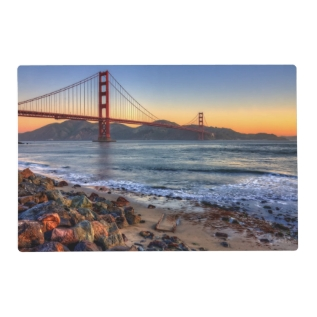 Golden Gate Bridge From San Francisco Bay Trail. Placemat at Zazzle