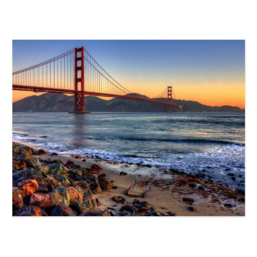 Golden Gate Bridge from San Francisco bay trail Postcard