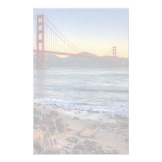 Golden Gate Bridge from San Francisco bay trail. Stationery