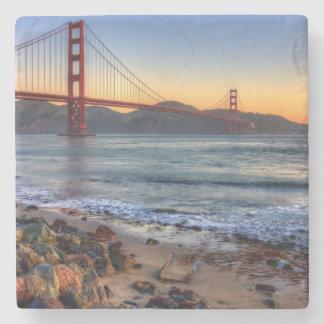 Golden Gate Bridge from San Francisco bay trail. Stone Coaster