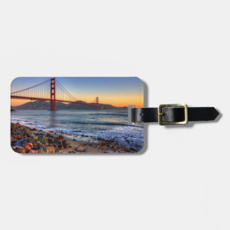 Golden Gate Bridge from San Francisco bay trail. Tag For Luggage