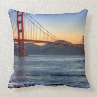 Golden Gate Bridge from San Francisco bay trail. Throw Pillow