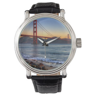 Golden Gate Bridge from San Francisco bay trail. Watch
