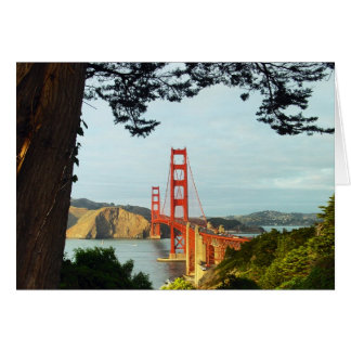 Golden Gate Bridge from the Bluff Greeting Card