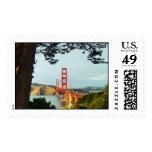 Golden Gate Bridge from the Bluff Postage Stamp