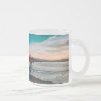 Golden Gate Bridge Frosted Glass Coffee Mug