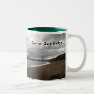 Golden_Gate_Bridge, Golden Gate Bridge Two-Tone Coffee Mug