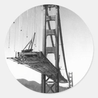 Golden Gate Bridge I Classic Round Sticker